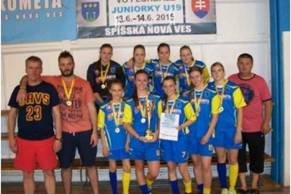 Majsterky Slovenska. Juniorky Kométy obhájili majstrovský titul.