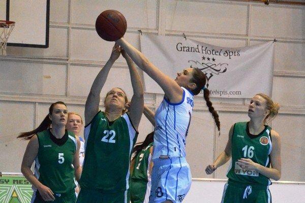 Dvojité sklamanie. Po výborných výsledkoch basketbalistky Spišskej Novej Vsi proti Šamorínu sklamali výsledkovo a hlavne herne.
