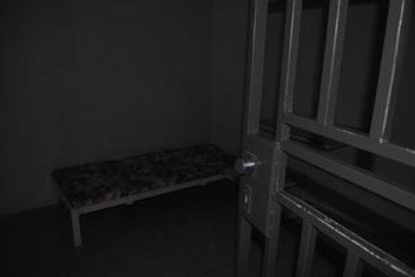 Ochranná miestnosť. Je stroho zariadená, dievča by sa tu malo upokojiť.