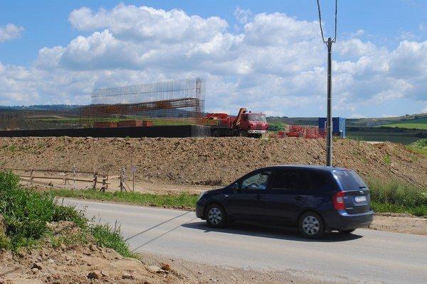V blízkosti Levoče stavajú diaľnicu.