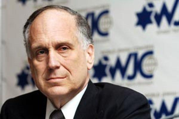 Prezident židovského kongresu Ronald Lauder.