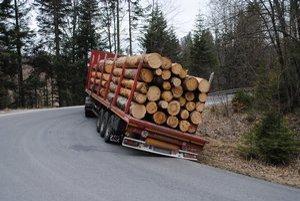 Pomoc pri vyťahovaní. Zadný náklad museli  zložiť hydraulickou rukou.