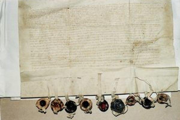 Zálohová listina Žigmunda z roku 1412.