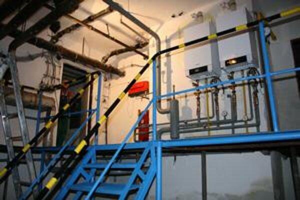 Nový plynový kotol. Zahreje zamestnancov i návštevníkov.
