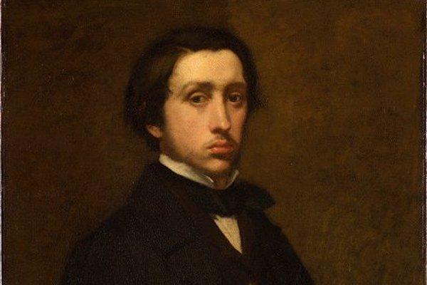 Edgar Degas na autoportréte.