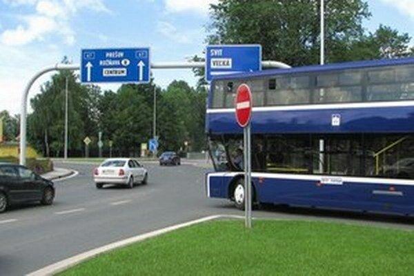 Autobus v Poprade.