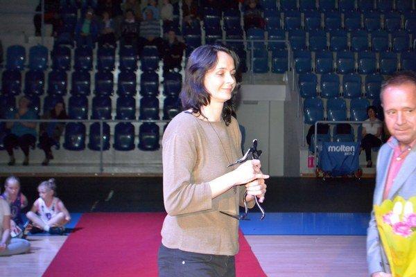 Andrea Kuklová. V hľadisku zožala jeden z najväčších aplauzov.