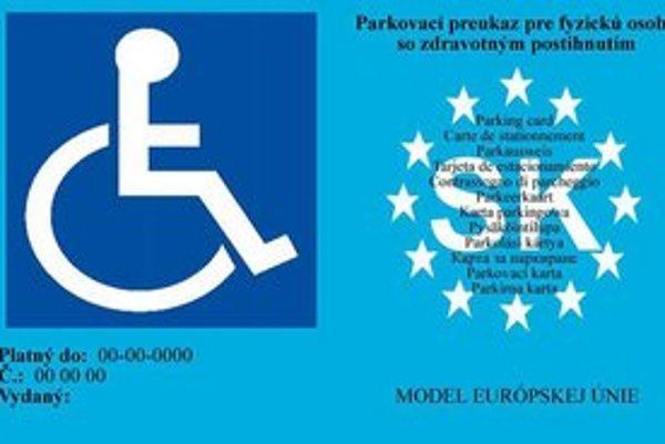 Nový parkovací preukaz