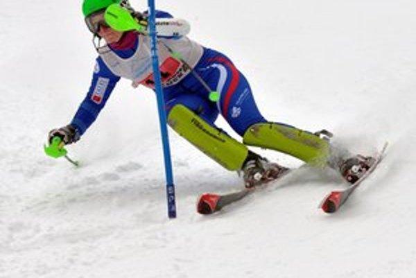 Kristína Saalová. Stala sa víťazkou slalomu.