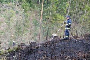 Lesný požiar pri Gánovciach.