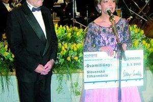 Na plese Slovenskej sporiteľne v bratislavskej Redute.