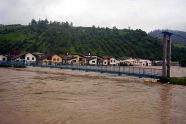 Mýtna ulica. Počas povodní patrila k najviac zasiahnutým častiam.