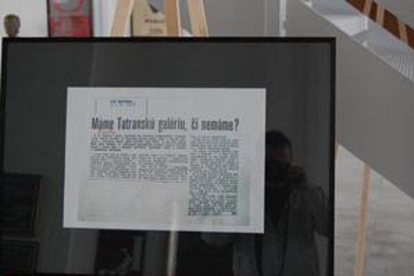 Články v novinách. O Tatranskej galérii v minulosti informovali aj miestne plátky.