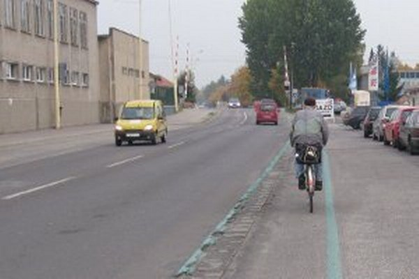 V Prievidzi majú cyklisti nanovo vyznačené trasy.