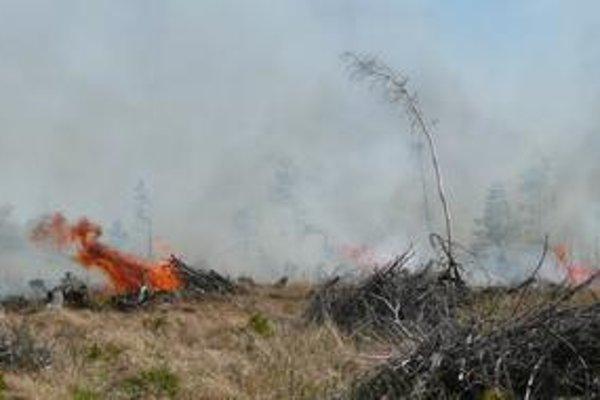 Najväčší. Včerajší požiar v Kežmarských Žľaboch bol najrozsiahlejší a agresívne sa šíril.
