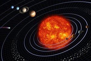 Šesť stupňovú odchýlku osi Slnka od kolmice na rovinu obežných dráh planét zrejme spôsobila neznáma Planéta Deväť.
