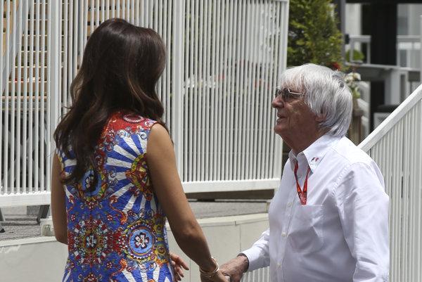 Bernie Ecclestone (vpravo) s treťou manželkou, Fabianou Flosi.
