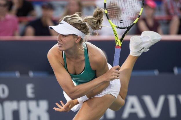 Eugenie Bouchardová predviedla dominantný výkon.