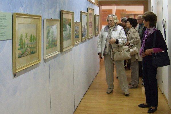 Návštevník na jednej výstave spoznal svoj dom achcel obraz kúpiť.