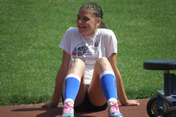 Janka Kusyová počas pretekov.