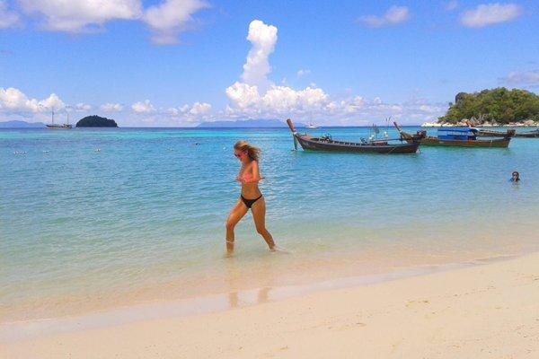 Thajsko. More. Pláž