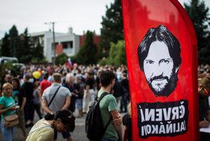 Protest Bonaparte 7 v Bratislave.