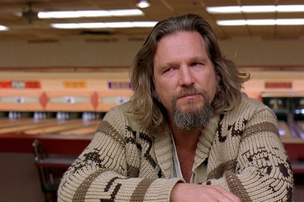 Jeff Bridges ako Big Lebowski.