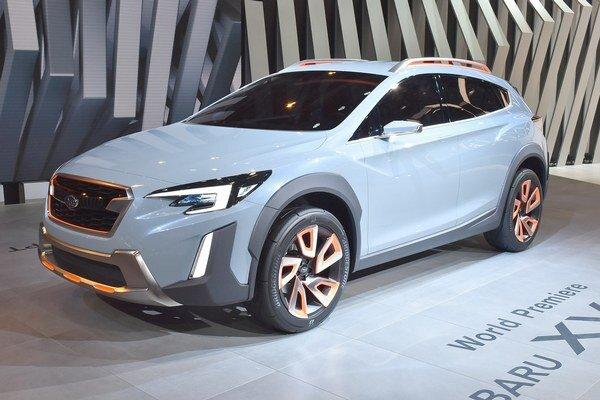 Štúdia crossoveru Subaru XV Concept. Štúdia je postavená na novej podvozkovej plošine a z nej odvodený sériový model má posilniť pozíciu značky Subaru v Európe.