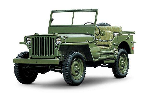 Willys-Overland MB alias Jeep z roku 1944. Počas druhej svetovej vojny vyrobili firmy Willys-Overland a Ford celkovo 647 925 vozidiel, ktoré vošli do histórie ako džípy.