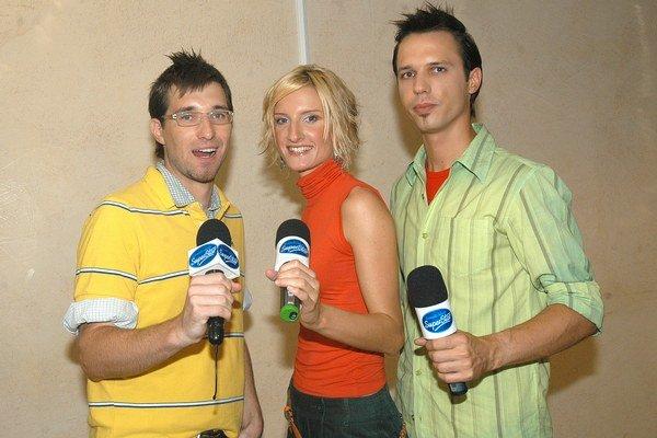 Moderátorské mláďatká. Pyco s Adelou a Brunom všetko odštartovali v roku 2004 v Košiciach.