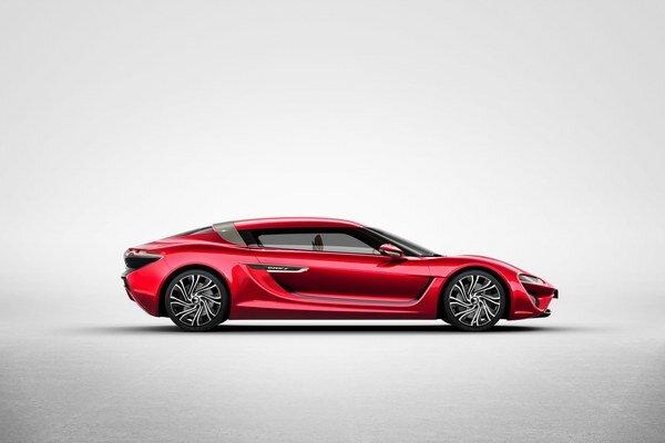 Športová limuzína Quant F. Svetovú premiéru bude mať štyrmi elektromotormi poháňaný Quant F na autosalóne v Ženeve.