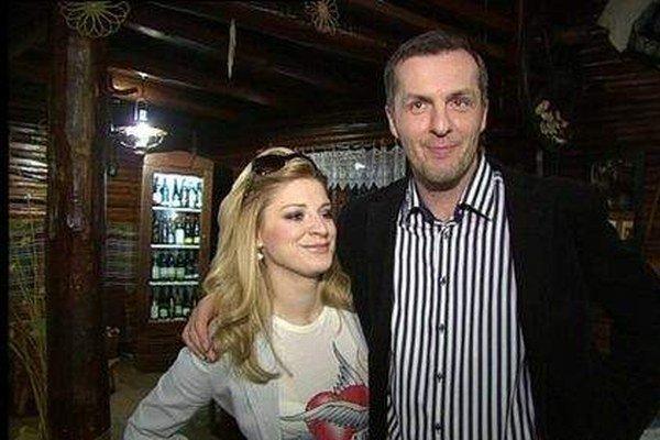 Martina Mečiarová s manželom. Čoskoro ich rozvedú.
