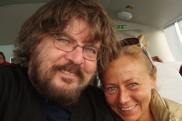 Boris Filan s manželkou Ingrid.