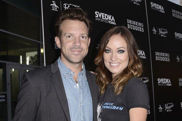 Olivia Wilde a jej snúbenec herec Jason Sudeikis.