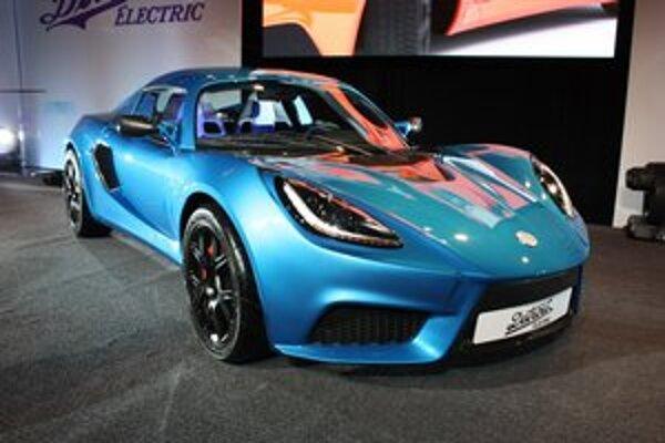 Elektromobil Detroit Electric. Elektromobil je postavený na podvozku modelu Lotus Exige a dosahuje maximálnu rýchlosť 249 km/h.