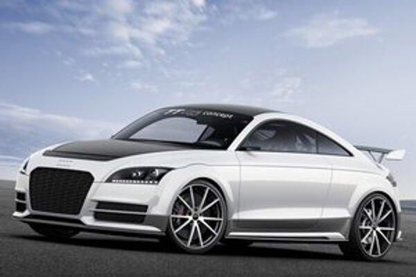 Koncepčné Audi TT ultra quattro. Táto štúdia je odvodená od sériového modelu, od ktorého sa odlišuje o približne 300 kg nižšou hmotnosťou.