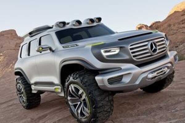 Štúdia Mercedes-Benz Ener-G-Force. Štúdia naznačuje, ako by podľa dizajnérov kalifornského štúdia Mercedes-Benz mohol vyzerať model G v roku 2025.