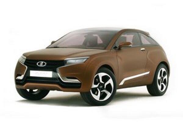Koncepčná Lada Xray. Predná časť tvaru X sa má objaviť na budúcich sériových modeloch firmy AutoVAZ.