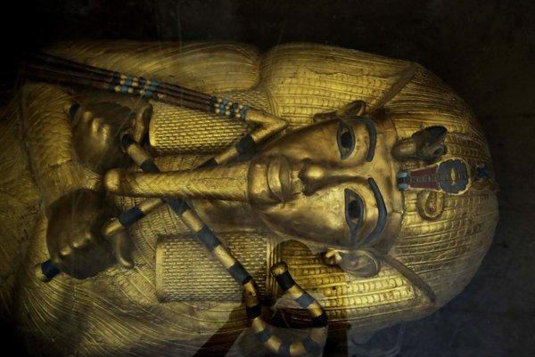 Tutanchamónova zlatá rakva.
