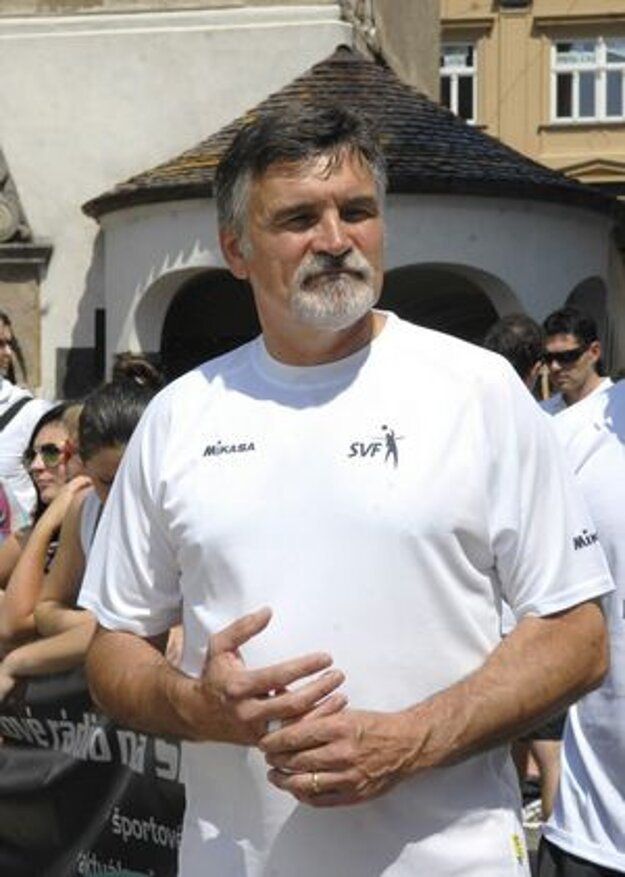 Šéf SVF Ľubor Halanda. Nešterí slovami chvály.