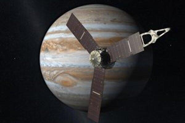 Kresba sondy Juno. Minulý piatok vypustená sonda Juno doletí k Jupiteru v roku 2016.