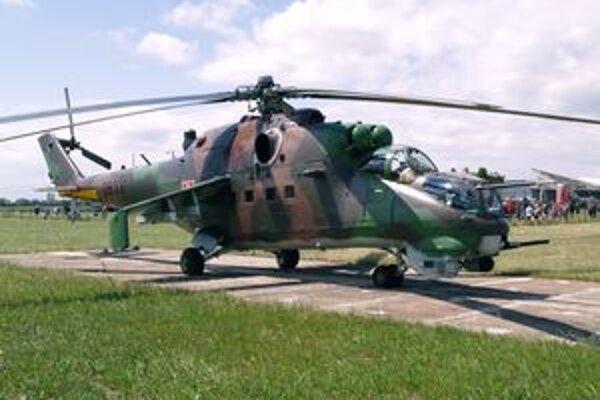 Vrtuľník Mi-24V. Aj tento slúžil na prešovskej základni.
