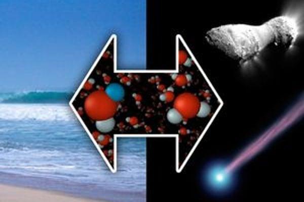Objav vody na kométe Hartley. Vesmírne observatórium Herschel zistilo, že voda na kométe má rovnakú charakteristiku ako voda v našich oceánoch.