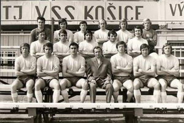 Mužstvo TJ VSS Košice z roku 1969, Jozef Štafura prvý zľava dole.