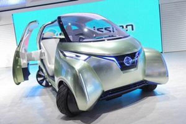 Koncepčný Nissan Pivo 3. Mestský elektromobil na báze štúdie Pivo 3 by sa na trhu mal objaviť do roku 2020.
