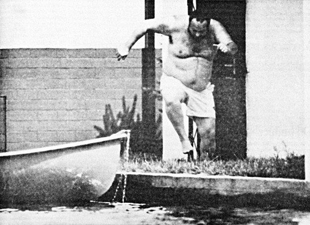 Asi najslávnejšia fotografia denníka SME. Fotograf strávil hodiny v člnku na jazere pri Senci, aby odfotil bývalého šéfa SIS Ivana Lexu. FOTO SME - MAREK VELČEK