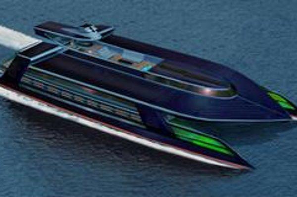 Superjachta Ocean Empire. Jachta využíva množstvo moderných technológií na zníženie emisií kysličníka uhličitého.