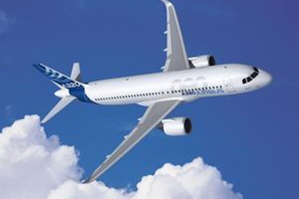 Kresba nového lietadla A320neo. Vďaka novým motorom bude lietadlo úspornejšie, tichšie a bude mať väčší dolet.