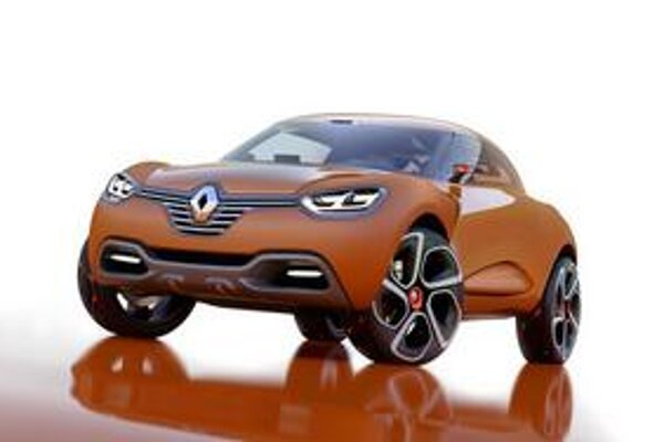 Štúdia Renault Captur. Prvky novej vizuálnej identity prednej časti sa objavia aj na sériových modeloch Renault.