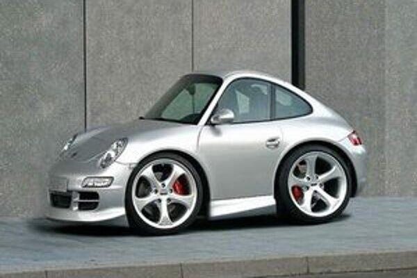 Športový model Smorsche. Firma Smart odmieta, že by vzorom modelu Smorsche bol model Porsche 911.